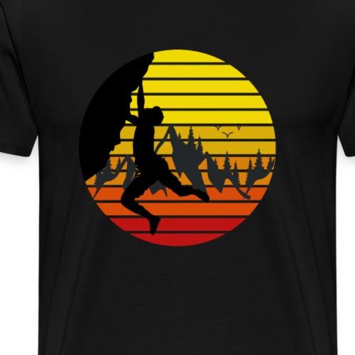 Bouldern Klettern Kletterwand Felsklettern - Männer Premium T-Shirt