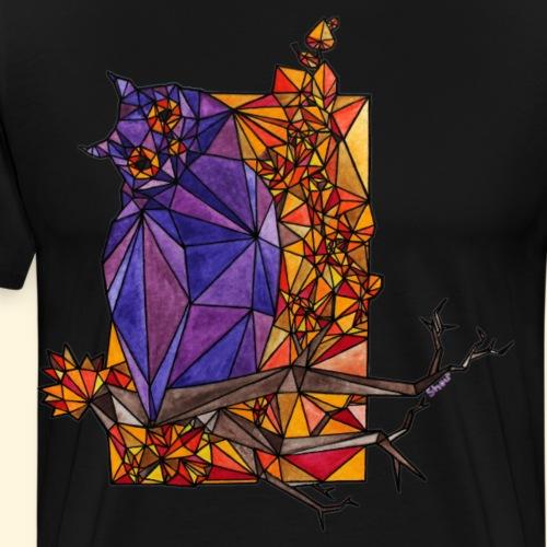 Chouette Hibou - Vitrail d'automne