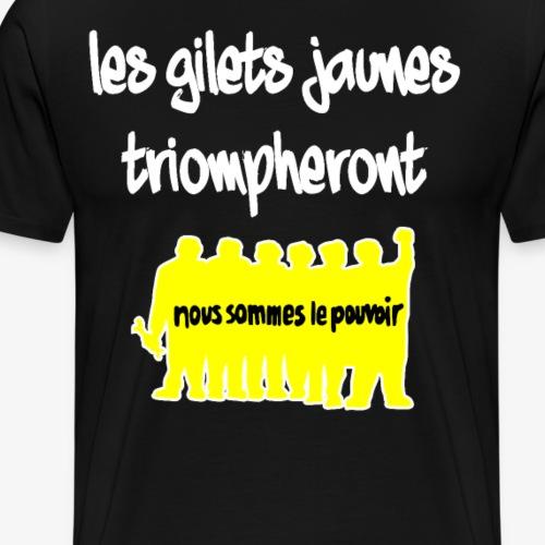 « Les Gilets jaunes triompheront » - Männer Premium T-Shirt