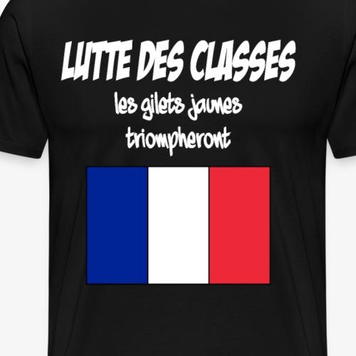 Lutte des classes - GILETS JAUNES - revolution 2 - Männer Premium T-Shirt