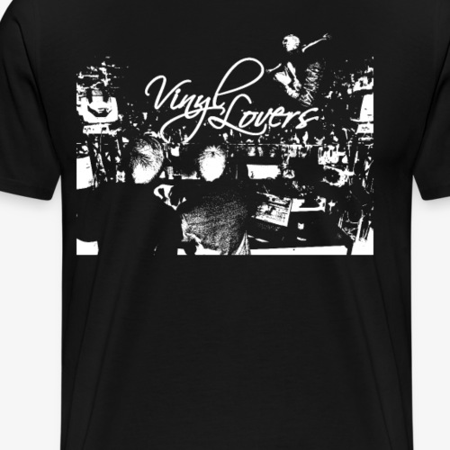 vinyl lovers dj party hiphop scratch weiss - Männer Premium T-Shirt