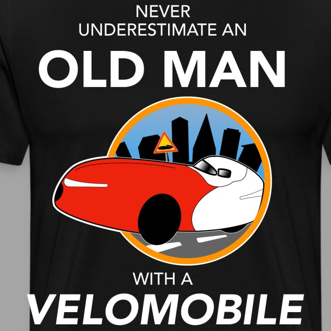 Never underestimate an old man with a velomobile