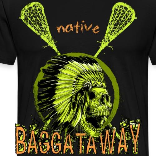 Lacrosse, LAX, Baggataway, Box Lacrosse - Männer Premium T-Shirt