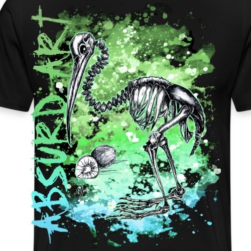 Knochentierchen Kiwi von Absurd ART - Männer Premium T-Shirt