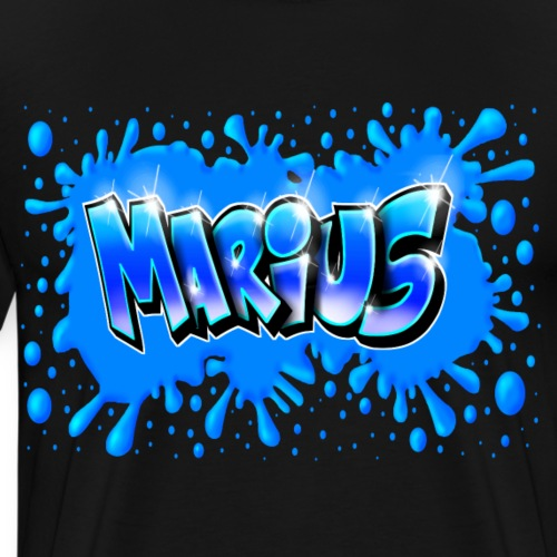 Graffiti Marius Splash - T-shirt Premium Homme