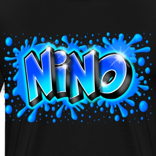 Graffiti NINO splash blue - T-shirt Premium Homme