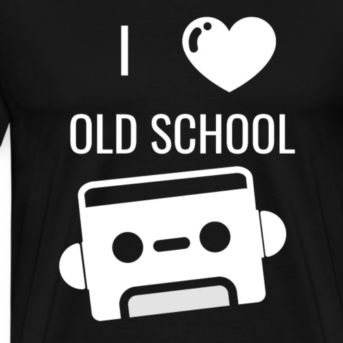 i love old school - Männer Premium T-Shirt