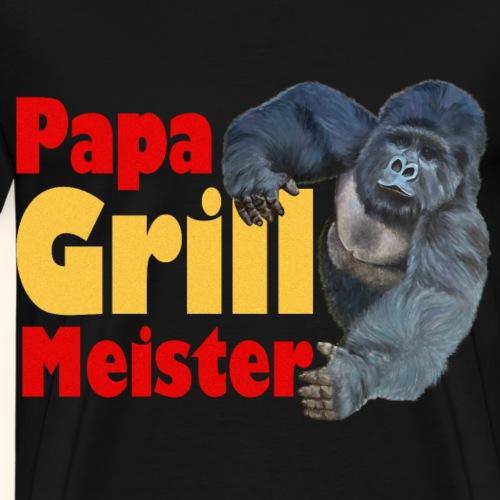 Papa Grillmeister Gorilla Sommer Grill Party - Männer Premium T-Shirt
