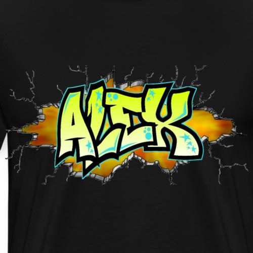 Graffiti ALEX printable - T-shirt Premium Homme