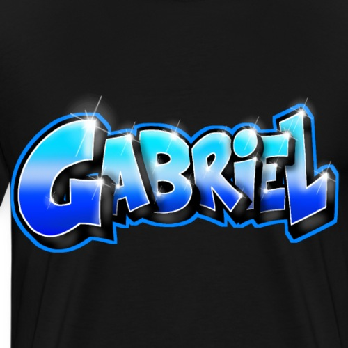 GABRIEL Graffiti name printable for gift - T-shirt Premium Homme