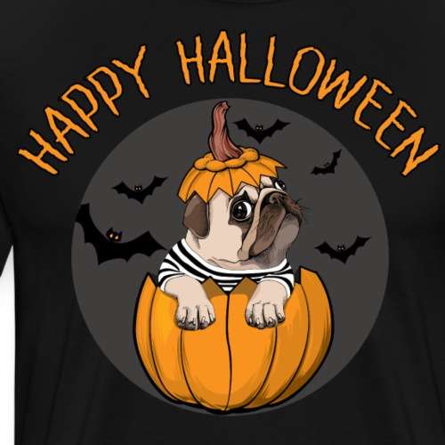 happy halloween mops - Männer Premium T-Shirt