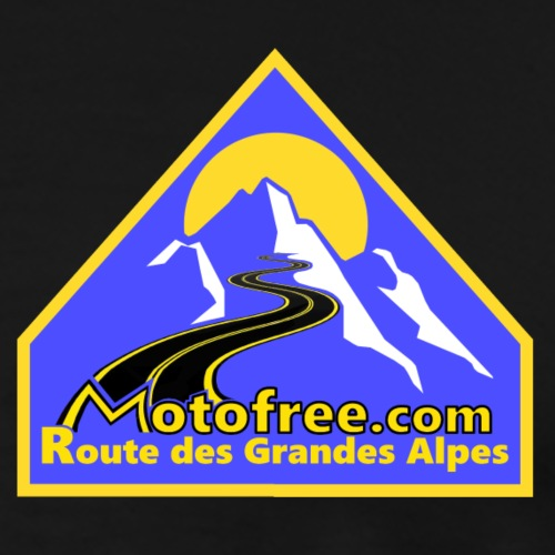 Logo motofree bleu - T-shirt Premium Homme