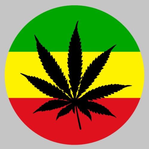 Reggae Rasta Cannabis Blatt grü gelbrot - Männer Premium T-Shirt