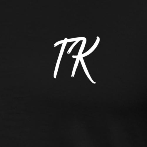 TK Initials (White) - Men's Premium T-Shirt