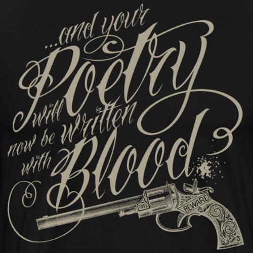 Blood poetry khaki - Men's Premium T-Shirt