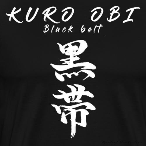 Kuro obi / black belt version blanc - T-shirt Premium Homme