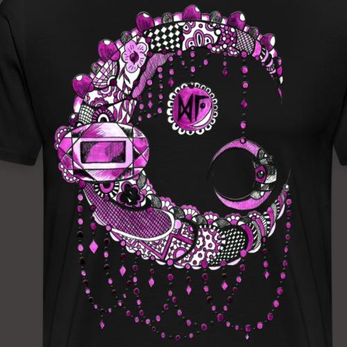 Lune dentelle Rose - T-shirt Premium Homme
