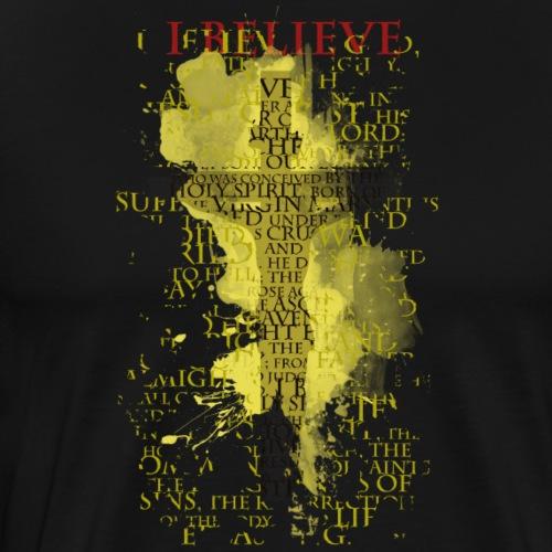 I believe / wierzę (yellow-żółty) - Koszulka męska Premium