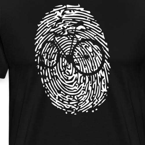 Fingerabdruck mit Rennrad T-Shirt Fahrrad Rad Shir - Männer Premium T-Shirt