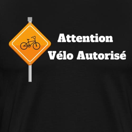 Attention, vélo autorisé 2 - T-shirt Premium Homme
