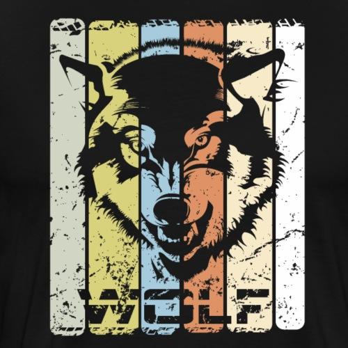 Wolf Silhouette - Männer Premium T-Shirt
