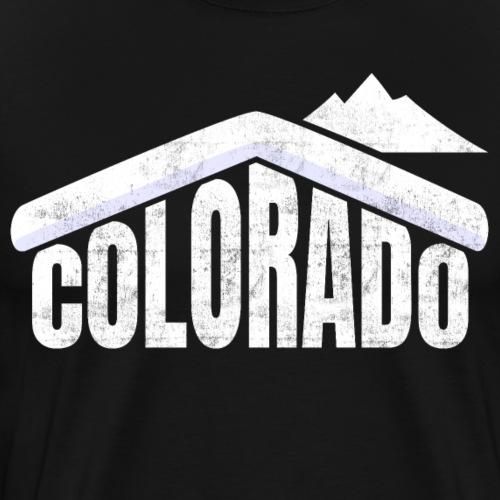 Colorado Schifahren Souvenir Rocky Mountains - Männer Premium T-Shirt