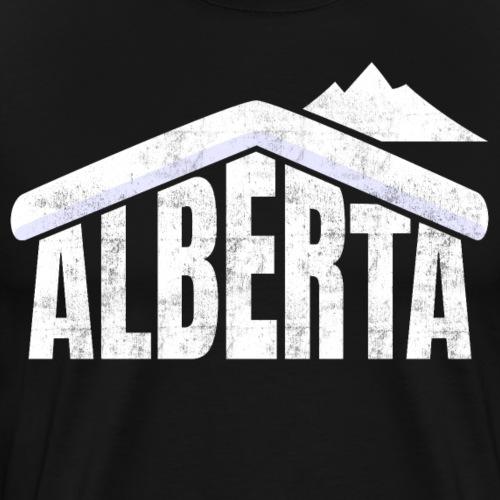 Alberta Canada Schifahren Souvenir Rocky Mountains - Männer Premium T-Shirt
