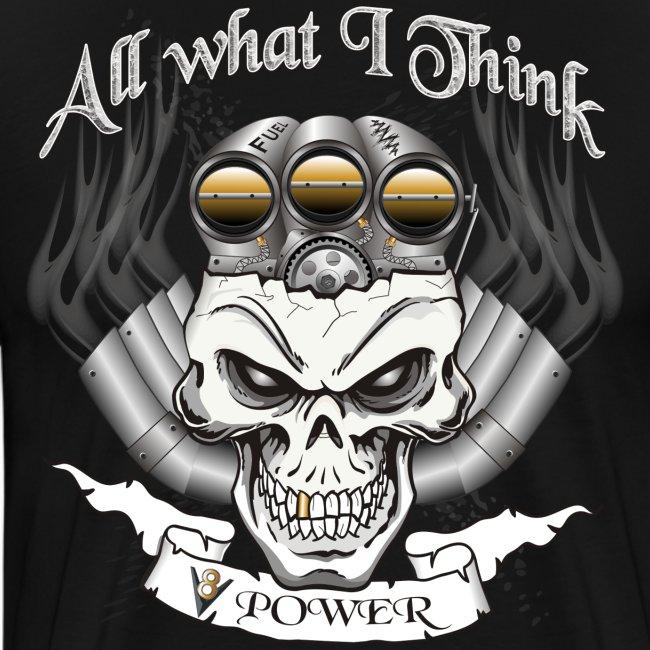 V8 Motor Skull mit Blower