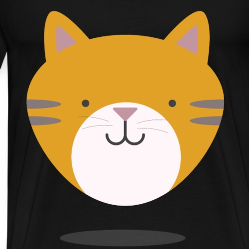Katzen T Shirt mit Katzenmotiv katze 14 - Männer Premium T-Shirt