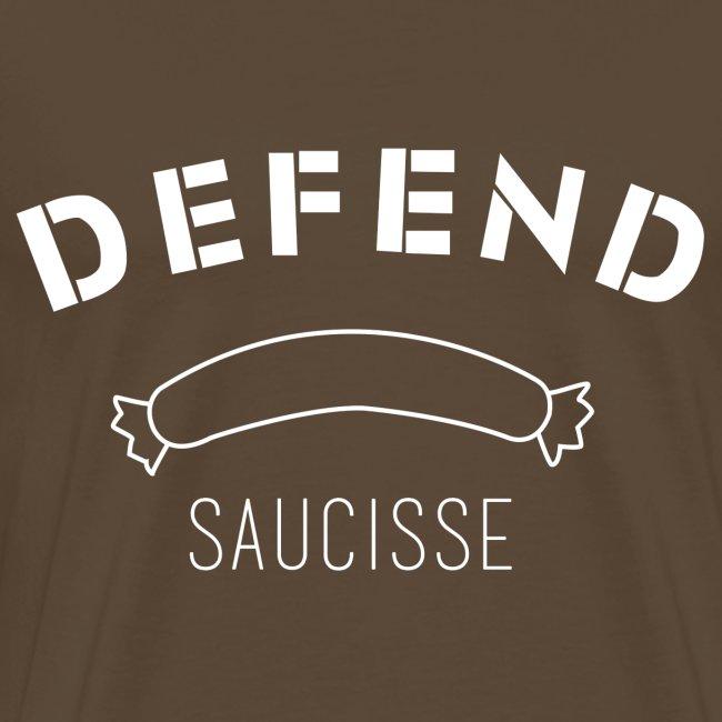 DEFEND SAUCISSE | Blanc