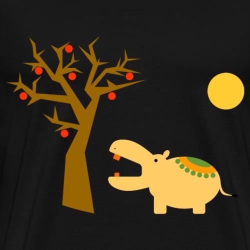 Nilpferd - Männer Premium T-Shirt