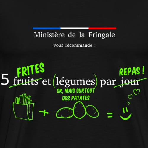 5 frites - T-shirt Premium Homme