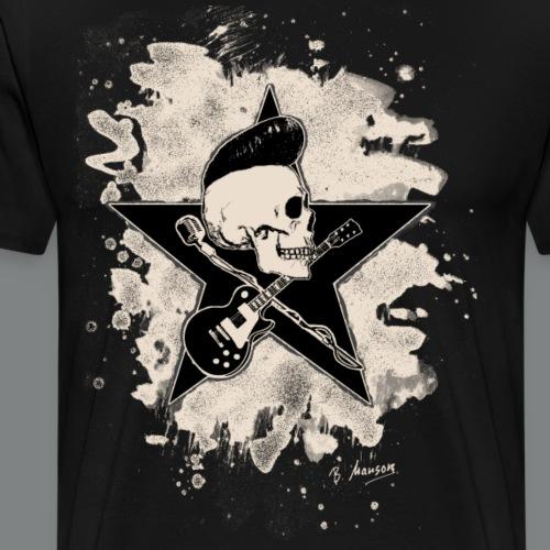 Rock-n-Roll Skull - bleached - Männer Premium T-Shirt