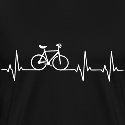 Kunstrad | Artistic Cycling | Heart Monitor White - Männer Premium T-Shirt