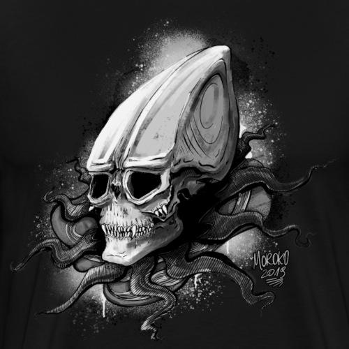 Alien BONE SQL B / W - Men's Premium T-Shirt