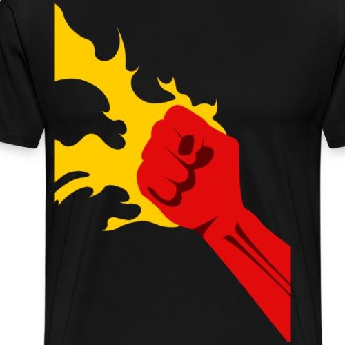Power Fist - Premium-T-shirt herr