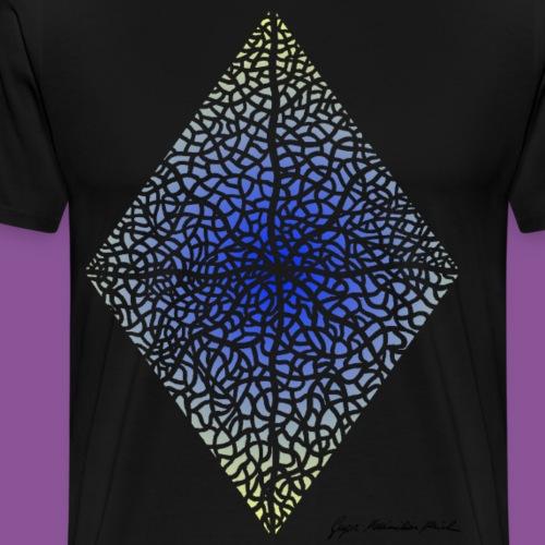 Karo mit Adern 45 - Männer Premium T-Shirt