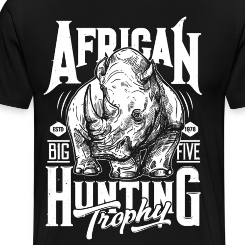 Safari Rhino - Men's Premium T-Shirt