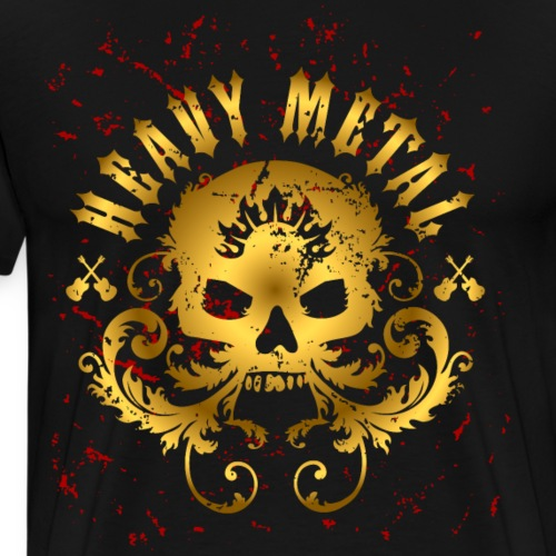 Heavy Metal Skull - Men's Premium T-Shirt
