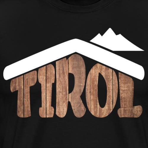 Tirol Österreich Almhütten Souvenir für Schifahrer - Männer Premium T-Shirt