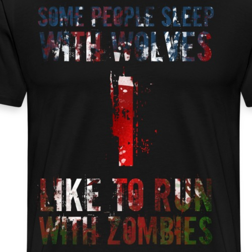 Wolves Zombies - Premium-T-shirt herr