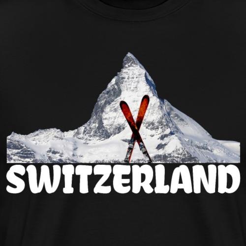 Ski Matterhorn Schweiz Bergsteiger Schneeliebhaber - Männer Premium T-Shirt