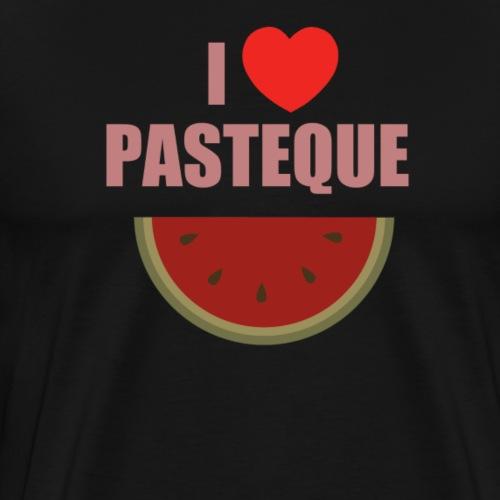 I love Pastèque. - T-shirt Premium Homme