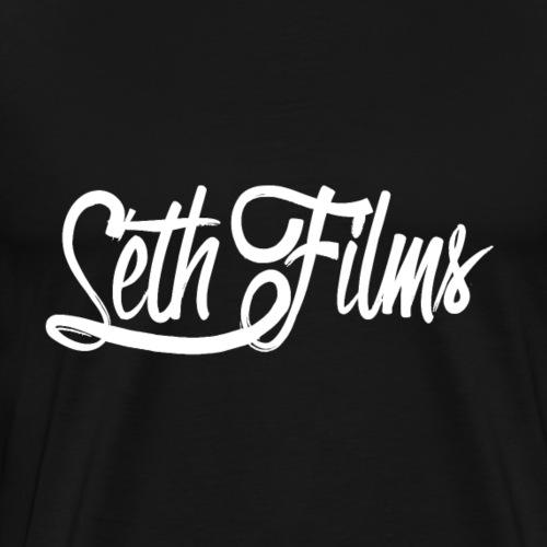SethFilms signature white png - Men's Premium T-Shirt