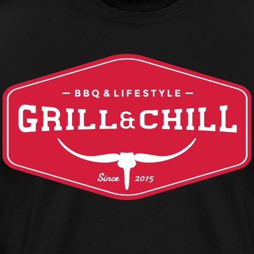BBQ and Chill / BBQ and Lifestyle Origin Logo - Men's Premium T-Shirt