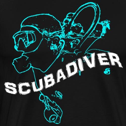 ScubaDiverShirt001 - Mannen Premium T-shirt