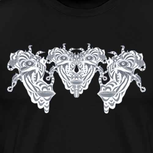 Face Split - Männer Premium T-Shirt