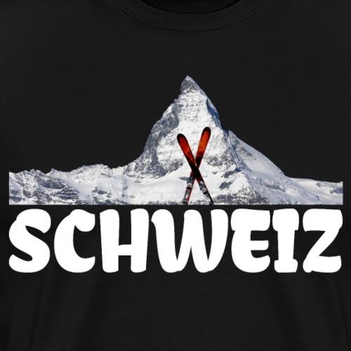 Schweiz Ski Matterhorn Bergsteiger Schneeliebhaber - Männer Premium T-Shirt
