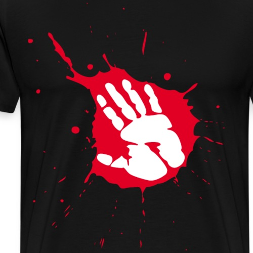 splash handabdruck - Männer Premium T-Shirt