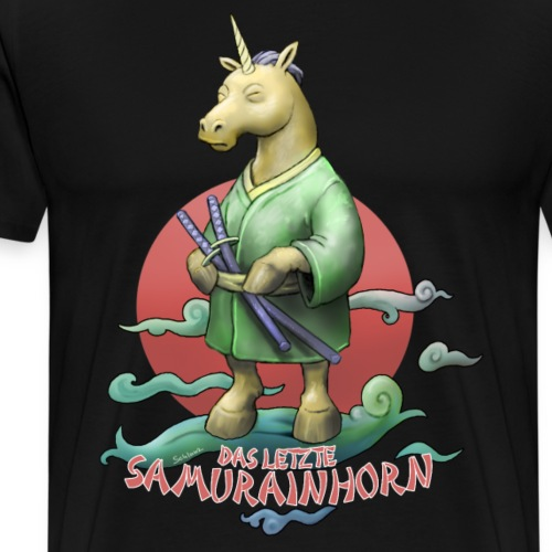 Samurainhorn - Männer Premium T-Shirt